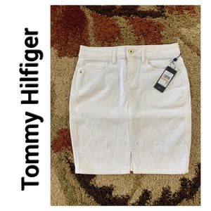 Tommy Hilfiger denim White skirt In Bloom NWT